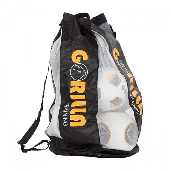 Gorilla ball bag for 10 soccer balls - ball net / with drawstring and carrying strap