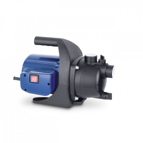 "Garden pump 220V/50Hz. 600 W max. flow: 3000 l. max. head: 35 m. max. suction: 8 m. outlet/inlet: 1"", IP Grade: IPX4 cable: 10 m. packing Hyundai colorbox GW: 6.8 kg."