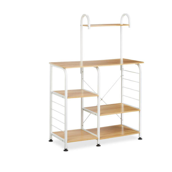 Metal storage rack 132x90x40 cm - 6-shelf unit / wall unit free-standing