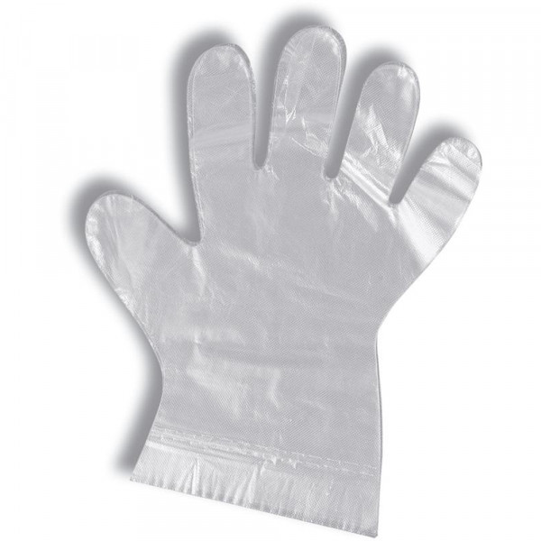 Parcura disposable gloves 500 pieces - transparent PE for optimal hygiene