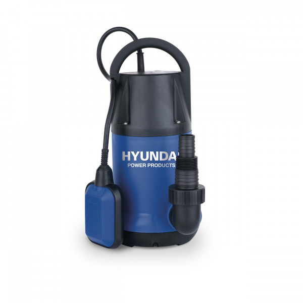 """Submersible pump 220V/50Hz. 250W max. flow:6000 l. max. height: 6 m. max. depth: 7 m. inlet: G1-1/2"""", IP Grade: IPX8 solid: 5 mm. cable: 10 m. packing Hyundai colorbox GW: 4.0 kg."""
